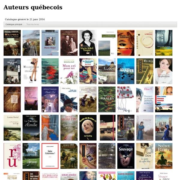 Auteurs québecois