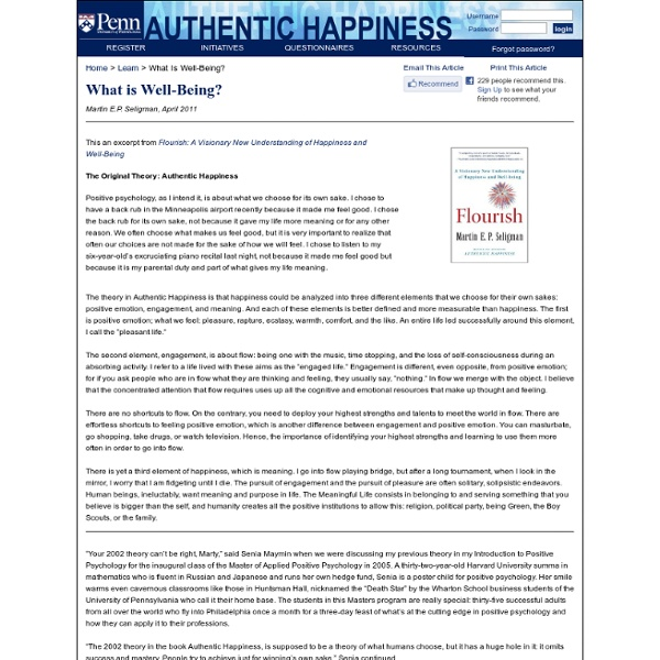 Using the new Positive Psychology