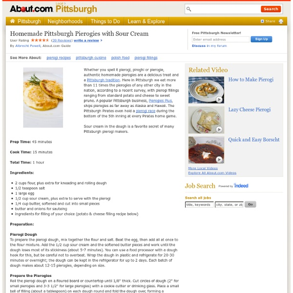 Perogie Recipes - How to Make Authentic Homemade Pierogies - Pittsburgh Pierogies