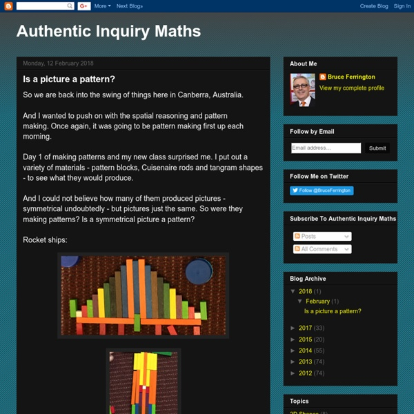 Authentic Inquiry Maths