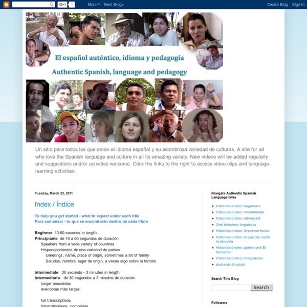 Authentic spanish language and pedagogy