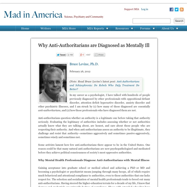 Why Anti-Authoritarians are Diagnosed as Mentally Ill