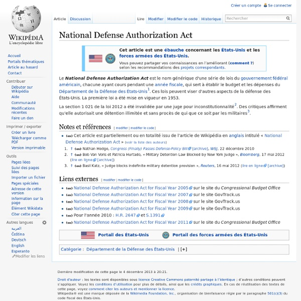 1953 - NDAA National Defense Authorization Act