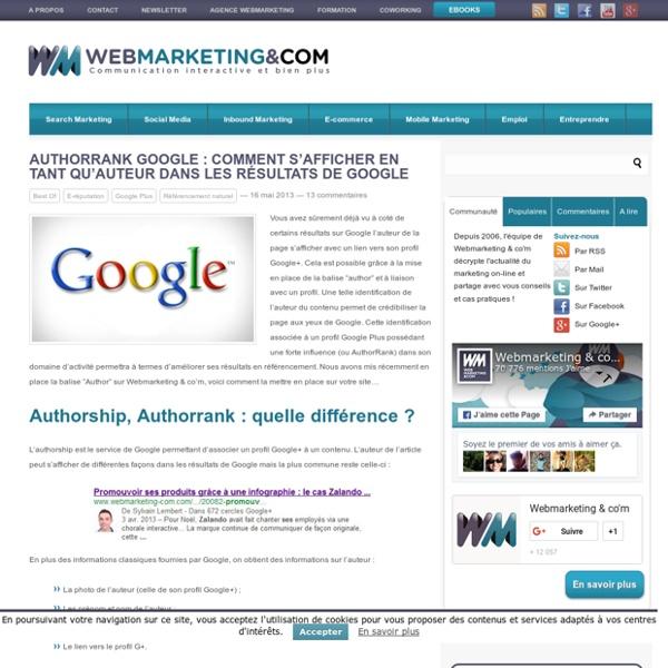 AuthorRank Google : comment s'afficher en tant qu'auteur dans les résultats de Google