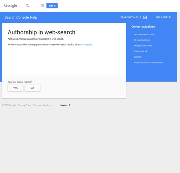Authorship in web-search - Search Console Help