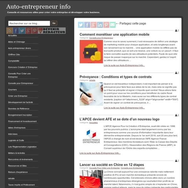 Auto-entrepreneur info