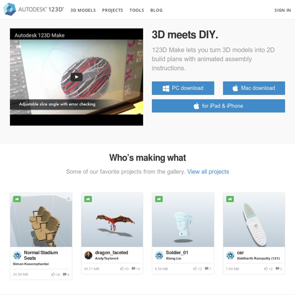Autodesk 123D - Personal Fabrication, 3D Printing, and Making Products and Services