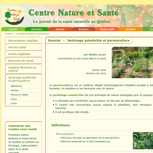 Jardinage autofertile et permaculture