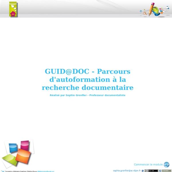 GUID@DOC - Parcours d'autoformation à la recherche documentaire