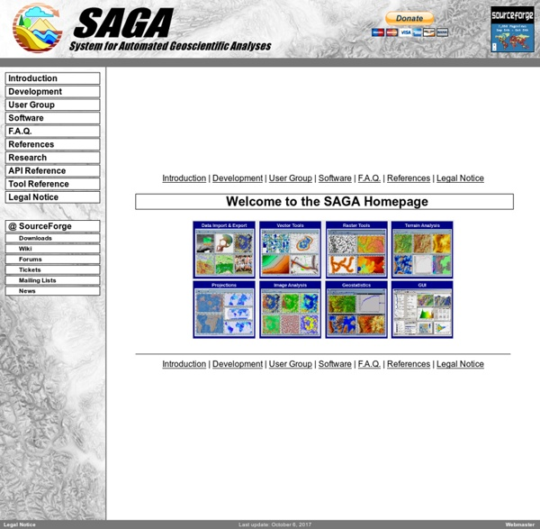 SAGA - System for Automated Geoscientific Analyses