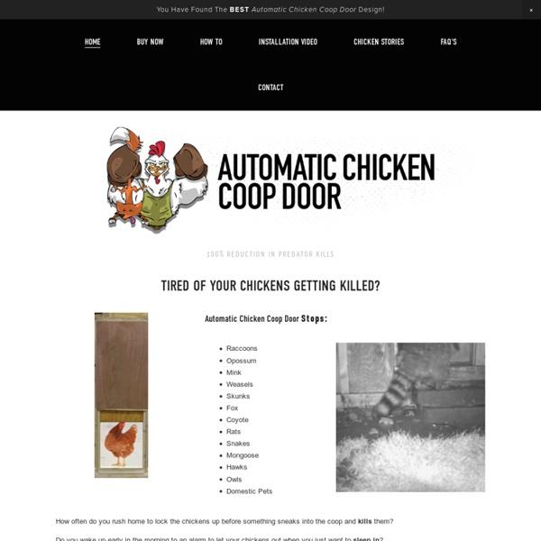 Automatic Chicken Coop Door Openers