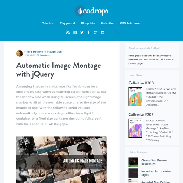 Automatic Image Montage with jQuery