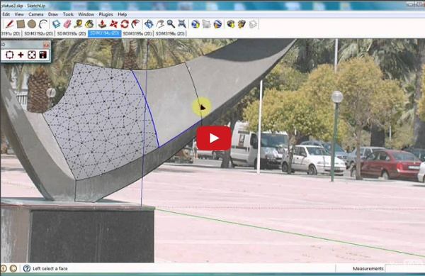 Automatic 3D surface fitting to photographs with Tgi3D SU PhotoScan