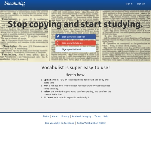 Automatically fill out vocabulary sheets