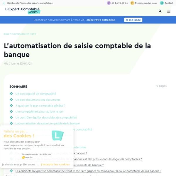 L'automatisation de saisie comptable de la banque