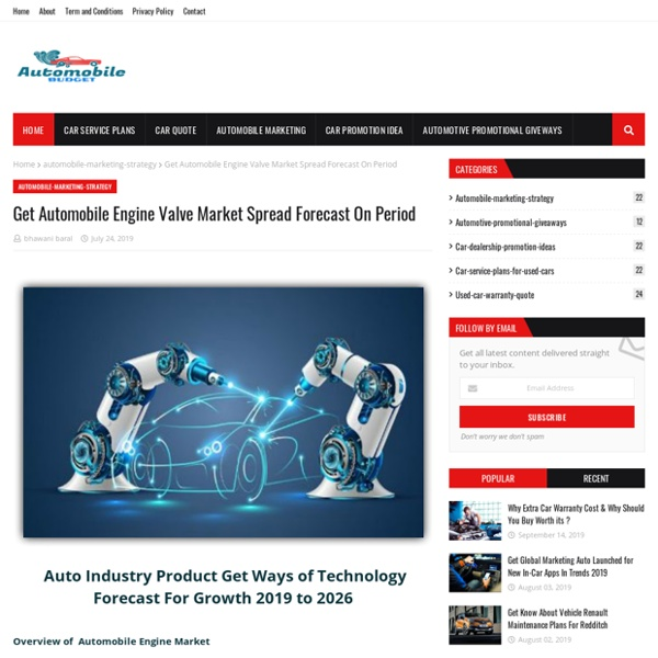 Get Automobile Engine Valve Market Spread Forecast On Period