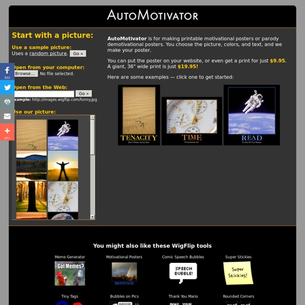 automotivator make your own printable motivational poster pearltrees