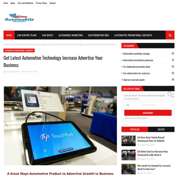 Get Latest Automotive Technology Increase Advertise Your Business