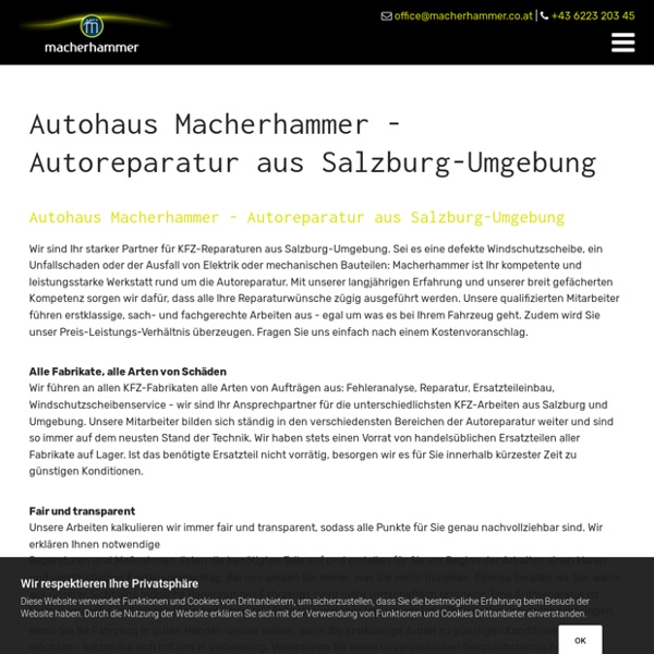 Autoreparatur aus Salzburg-Umgebung