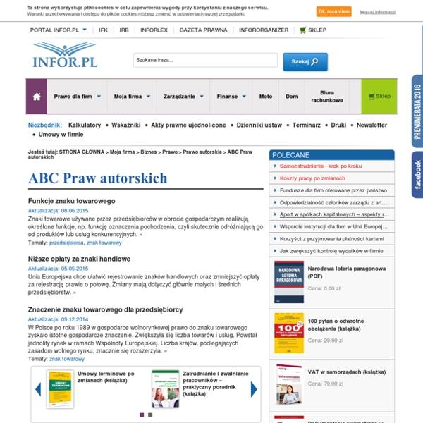ABC praw autorskich - Prawa autorskie - prawa autorskie w sieci, utwory pracownicze, prawa autorskie w firmie