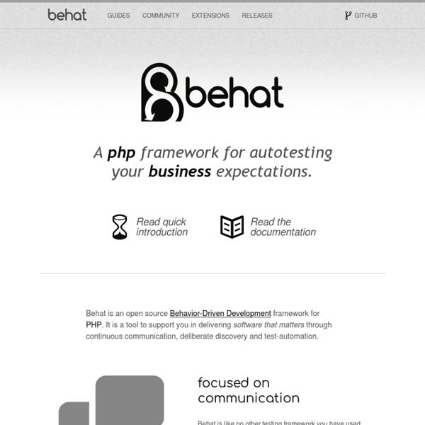 Behat — BDD for PHP