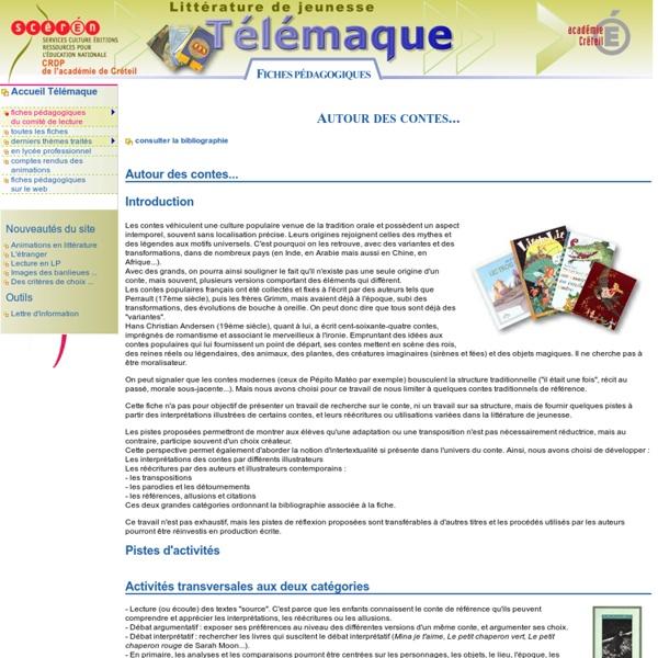 Autour des contes - fiche pedagogique