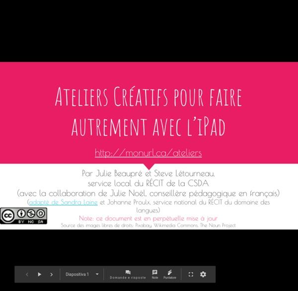 Ateliers Creatifs Pour Faire Autrement Avec LiPad - Presentazioni Google
