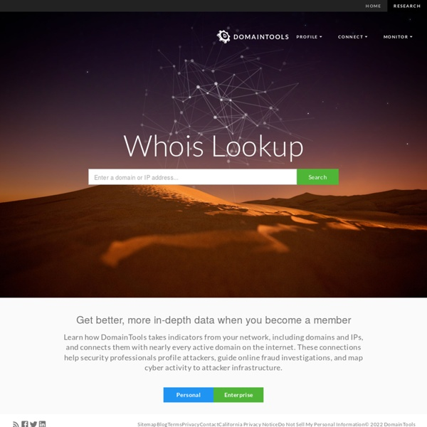 Whois Lookup, Domain Availability & IP Search - DomainTools
