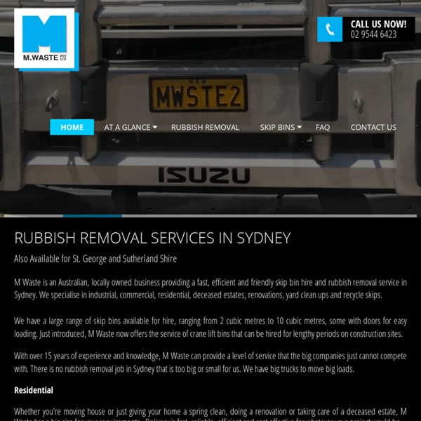 M Waste Pty Ltd - Bin Hires Available for Sutherland Shire and St. George