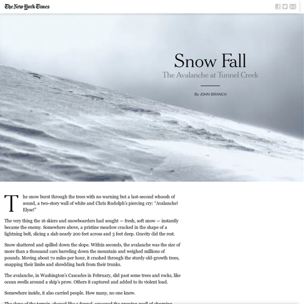 Snow Fall: The Avalanche at Tunnel Creek - Multimedia Feature