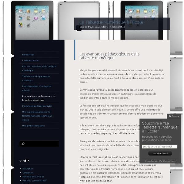 Les avantages pédagogiques de la tablette numérique