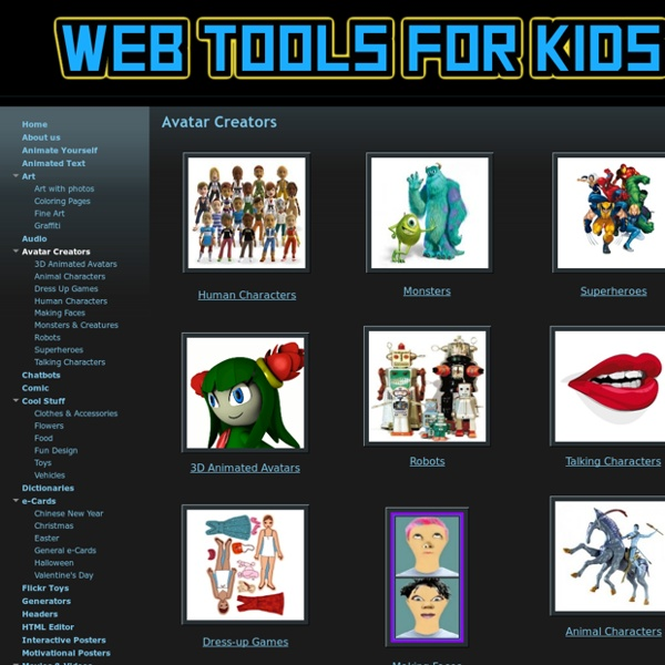 Avatar Creators - Web tools for kids