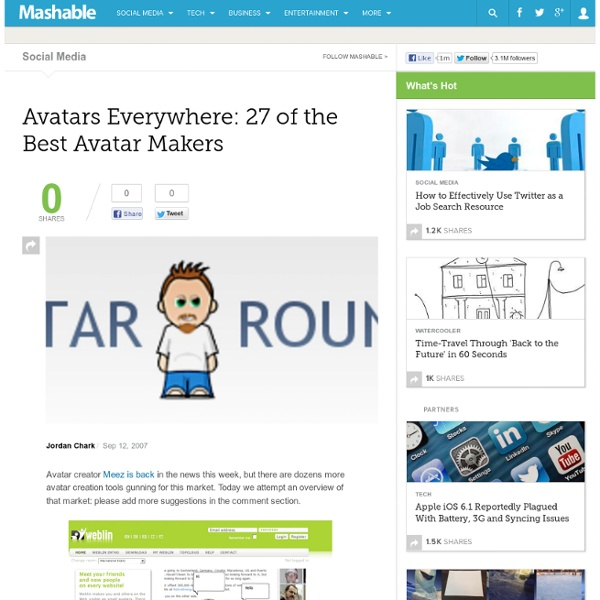 Avatars Everywhere: 27 of the Best Avatar Makers