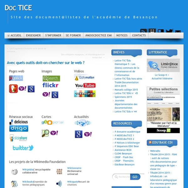 Outils de recherche sur le web