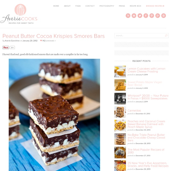 Peanut Butter Cocoa Krispies Smores Bars