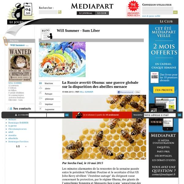 La Russie avertit Obama: une guerre globale sur la disparition des abeilles menace