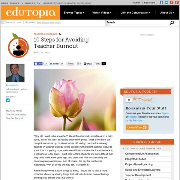 10 Steps for Avoiding Teacher Burnout