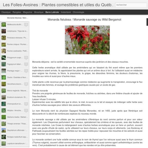 Les Folles-Avoines : Plantes comestibles et utiles du Québec