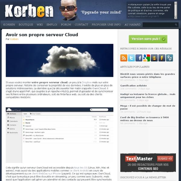 Avoir son propre serveur Cloud