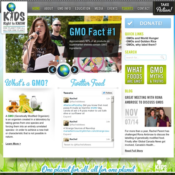 Home of Rachel Parent, GMO Educator and Activist - Raising awareness about the risks of genetically modified organisms in our food and the need for GMO Labeling