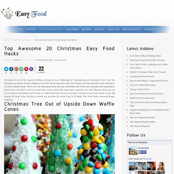 Top Awesome 20 Christmas Easy Food Hacks