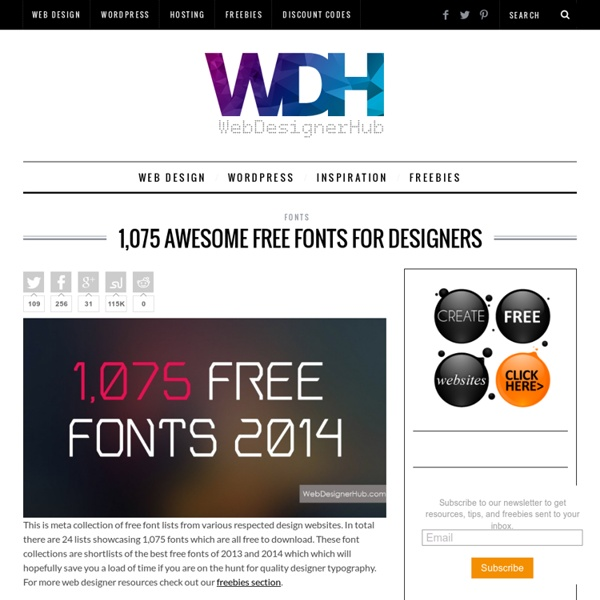 1,075 Awesome Free Fonts For Designers