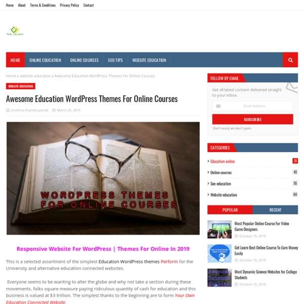 Awesome Education WordPress Themes For Online Courses