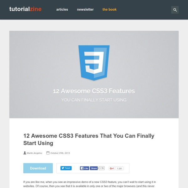 12 Awesome CSS3 Features That You Can Finally Start Using