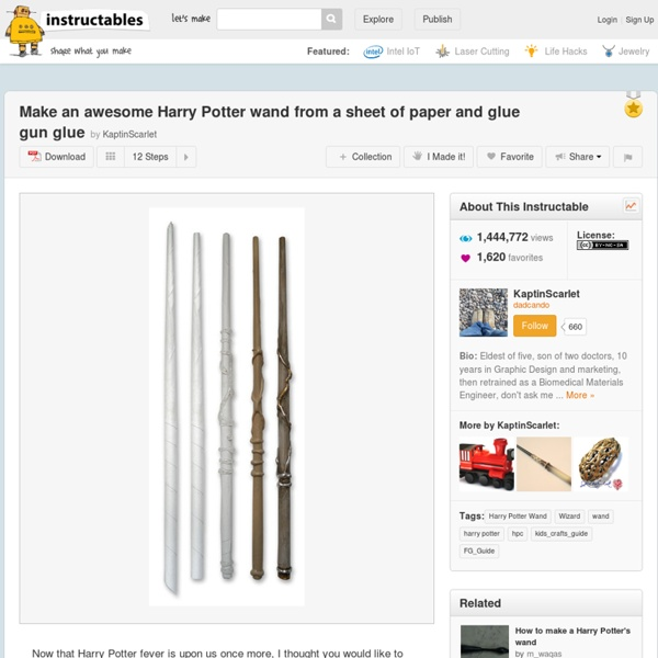 Make An Awesome Harry Potter Wand From A Sheet Of Paper