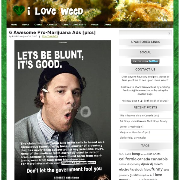 6 Awesome Pro-Marijuana Ads