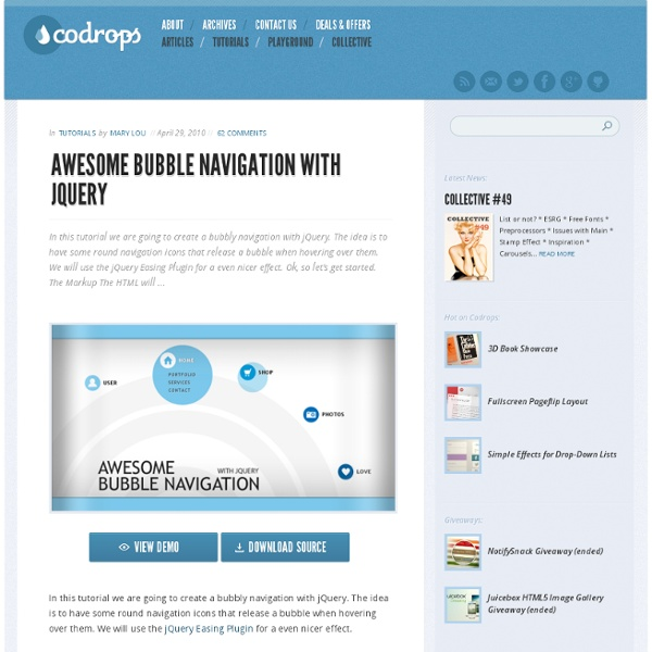 Awesome Bubble Navigation with jQuery