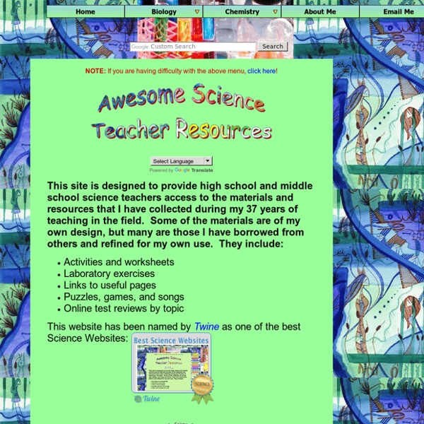 Awesome Science Teacher Resources