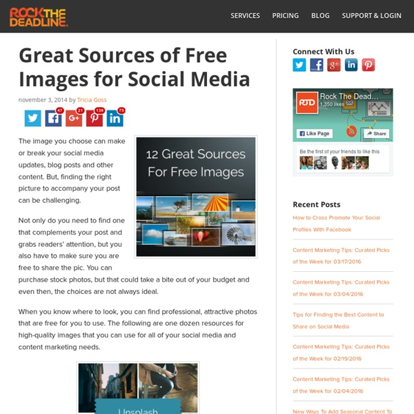 12 Sources for Free Images to Use on Your Blog and Social Media Posts