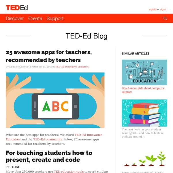 25 awesome apps for teachers, recommended by teachers